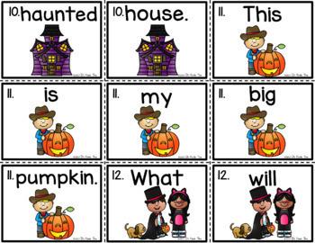 Sentence Scramble - Halloween Theme