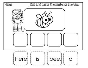 Sentence Scramble ~ Here Is Sentences