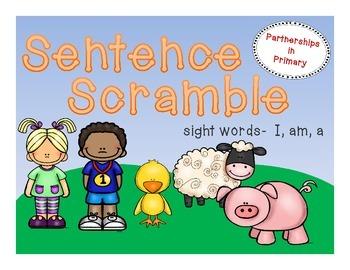 Sentence Scramble (I, am, a)