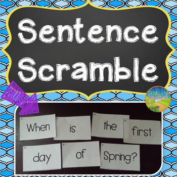 Sentence Literacy Activity