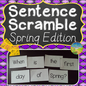 Sentence Literacy Activity (Spring Edition)