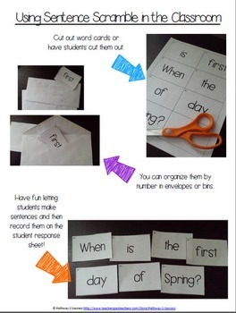 Sentence Literacy Activity (Spring Edition)