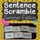 Sentence Literacy Activity (Summer Edition)