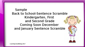 Sentence Scramble Literacy Center Freebie K-2