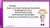 Sentence Scramble Literacy Center Freebie K-2