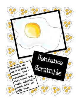 Sentence Scramble: Making Simple Sentences