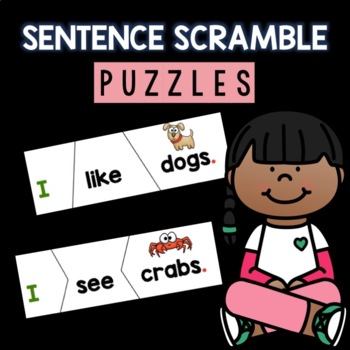 Sentence Scramble Puzzles (self correcting)