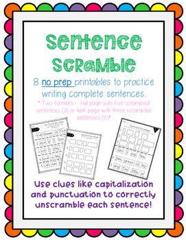 Sentence Scramble SET