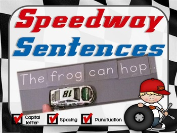 Sentence Scramble, Sentence Building & Writing Racing Activity (editable)