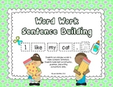 Sentence Scramble: Sight Words in Sentences