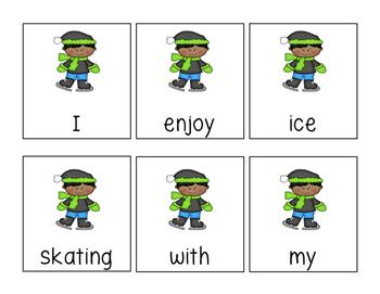 Sentence Scramble: Winter Themed