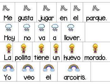 Sentence Scramble in Spanish *Spring-themed Sentences to Unscramble*