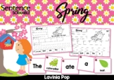 Spring Sentence Scramble with Cut and Paste Worksheets