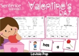 Valentine's Day Sentence Scramble with Cut and Paste Worksheets
