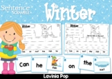 Winter Sight Word Sentences