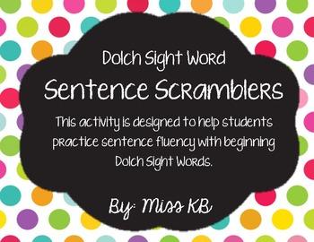 Sentence Scrambler - Dolch Sight Words
