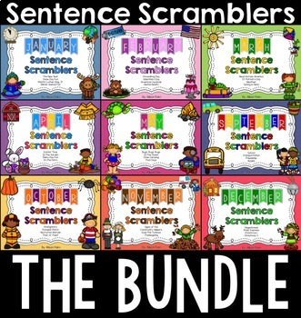 Sentence Scramblers All Year Long {The BUNDLE!}
