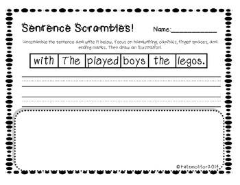 Sentence Scrambles!