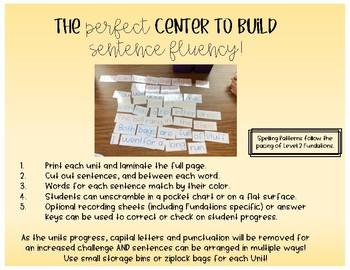 Second Grade Phonics Sentence Scrambles