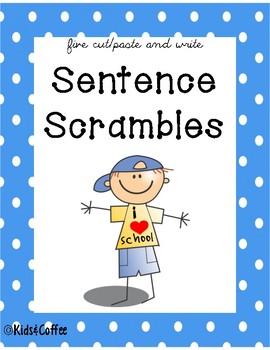 Sentence Scrambles {5 words]