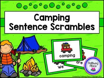 Sentence Scrambles: Camping Sentence Building Activity