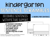 Sentence Scrambles Cut and Paste (3 words)