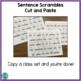 Sentence Scrambles Cut and Paste Monthly Sets *no prep*