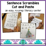 Sentence Scrambles Cut and Paste Monthly Sets *no prep*