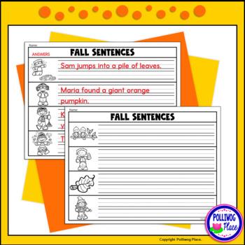 Sentence Scrambles: Fall Sentence Building Activity