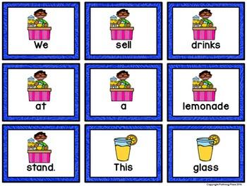 Sentence Scrambles: Lemonade Stand Sentence Building Activity
