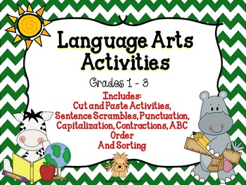 Capitalization, Punctuation, and Nouns {Activities To Supp