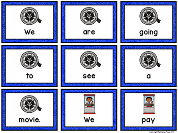 Sentence Scrambles: Movie Theater Sentence Building Activity