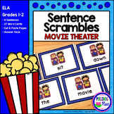 Sentence Scrambles: Movie Theater Sentence Building Activity