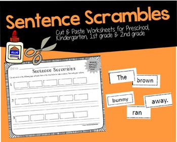 Sentence Scrambles (PreK, Kindergarten & 1st grade)