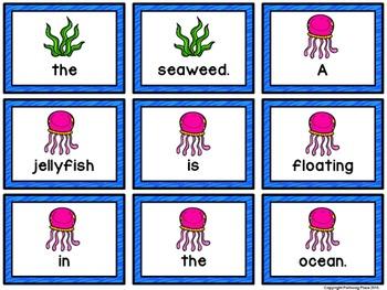 Sentence Scrambles: Sea Life Sentence Building Activity