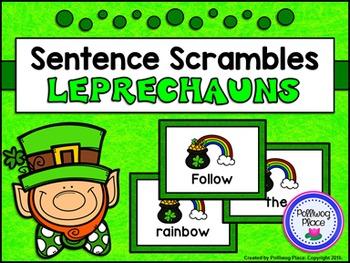 Sentence Scrambles: St. Patrick's Day Sentence Building Activity