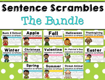 Sentence Scrambles - The Bundle