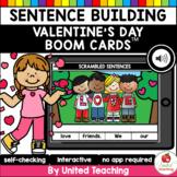 Digital Sentence Scrambles Valentine's Day Boom Cards (Dis