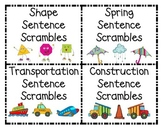 Sentence Scrambles Vocabulary and Concept Literacy Center