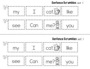Sight Word Practice Sight Word Sentences