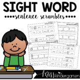 Sight Word Practice Sentence Scrambles