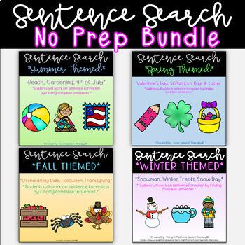 Sentence Search - Growing Bundle
