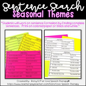 Sentence Search - Summer - NO PREP Worksheets