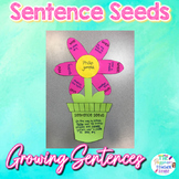 Sentence Seeds Flower Craft l  Stretching Sentences Craftivity