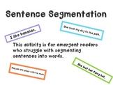 Sentence Segmentation Activity