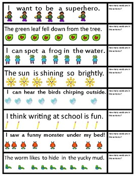 Sentence Segmentation P.A.S.T Phonological Assessment Activity 1