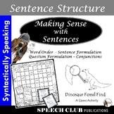 Sentence Assembly & Formulation - A Dinosaur Fossil GAME Activity