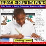 Sentence Sequencing | Order Details in Writing IEP GOAL SK
