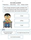 Sentence Sequencing Strips with Short Story