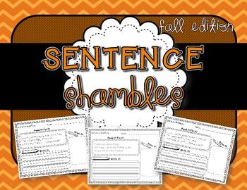 Sentence Shambles {Fall Edition}